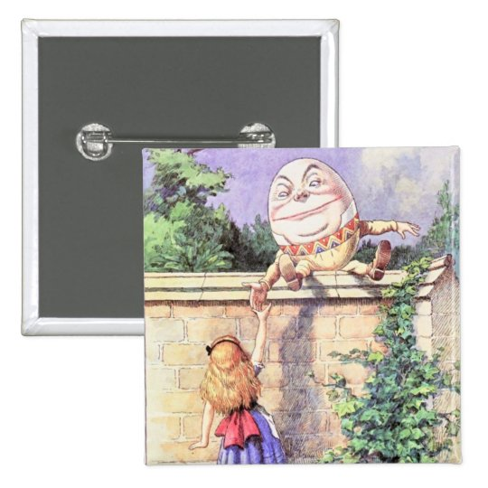 Alice & Humpty Color Pinback Button