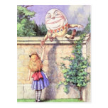 Alice & Humpty Color Postcard