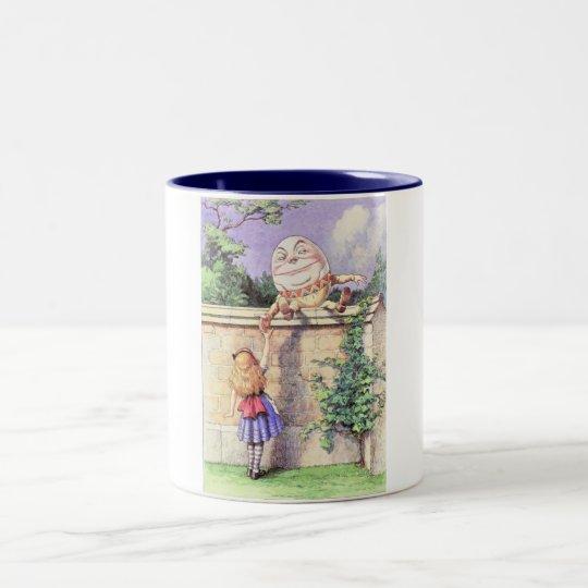 Alice & Humpty Color Two-Tone Coffee Mug