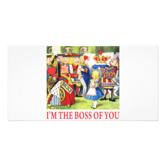ALICE - I'M THE BOSS OF YOU PHOTO CARD