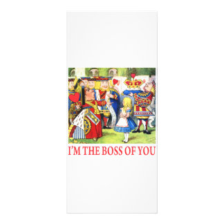 ALICE - I'M THE BOSS OF YOU RACK CARD