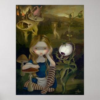 Alice in a Bosch Landscape lowbrow art Print
