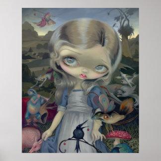 Alice in a Bosch Wonderland ART PRINT gothic