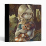 Alice in a Da Vinci Portrait BINDER wonderland cat
