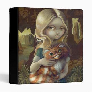 Alice in a Da Vinci Portrait BINDER wonderland cat