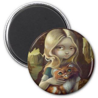 """Alice in a Da Vinci Portrait"" Magnet"