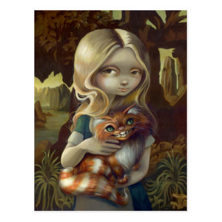 """Alice in a Da Vinci Portrait"" Postcard"