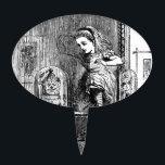 "Alice in a Mirror Cake Topper<br><div class=""desc"">Alice sneaks through a mirror.</div>"