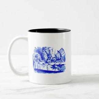 Alice in Blue Two-Tone Coffee Mug