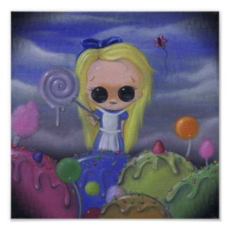 alice in candyland art print print