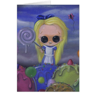 alice in candyland greeting card