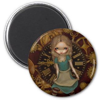 """""""Alice in Clockwork"""" Magnet"""
