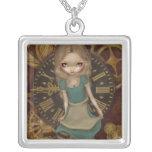 Alice in Clockwork NECKLACE steampunk wonderland