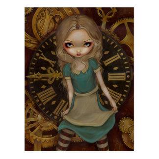 Alice in Clockwork Postcard