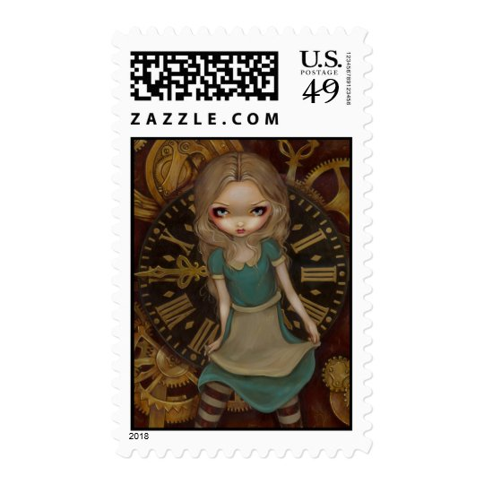 """Alice in Clockwork"" Stamp"