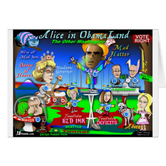 Alice in ObamaLand Card
