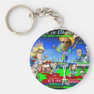 Alice in ObamaLand Keychain