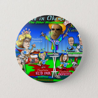 Alice in ObamaLand Pinback Button