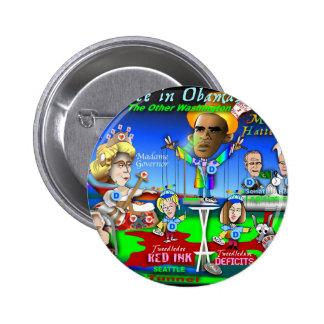 Alice in ObamaLand Pinback Button