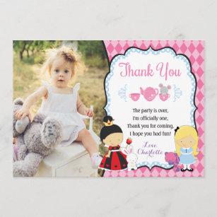Alice In Wonderland Thank You Cards Zazzle