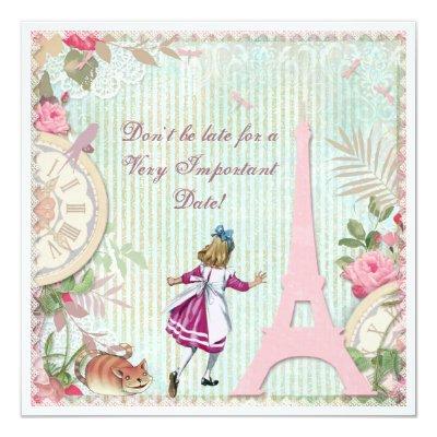 Alice in paris shabby chic wonderland baby shower invitation alice in paris shabby chic wonderland baby shower invitation zazzle filmwisefo