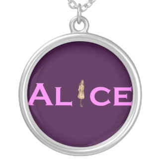 Alice in Pink Silver Plated Necklace