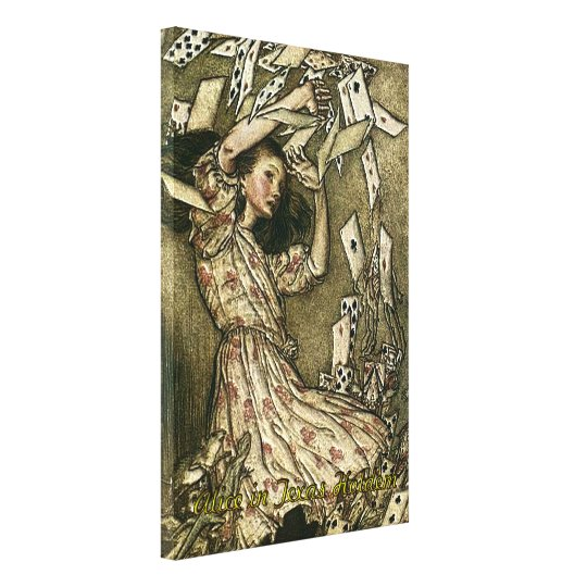Alice in Texas Holdem Poker Wrapped Canvas