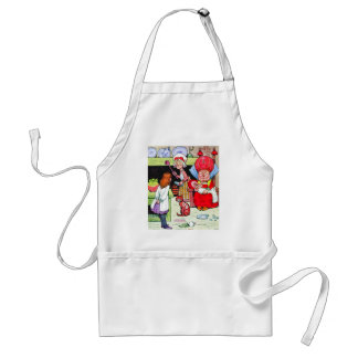 Alice in the Duchess' Kitchen with the Pig Baby Adult Apron