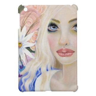 Alice in the Garden of Live Flowers Painting iPad Mini Cover