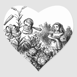 Alice in the Garden Heart Sticker