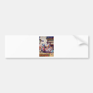 Alice in The Kitchen with the Duchess and Pig Baby Car Bumper Sticker