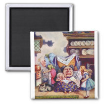 Alice in The Kitchen with the Duchess and Pig Baby Magnet