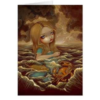 """Alice in the Pool of Tears"" Greeting Card"