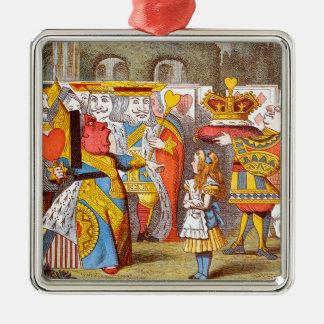 Alice in the Queen's Courtyard 2 Metal Ornament