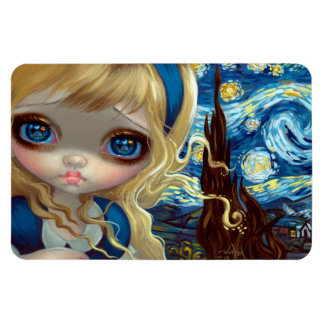"""""""Alice in the Starry Night"""" Flex Magnet"""