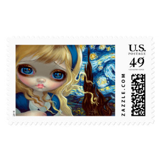 """Alice in the Starry Night"" Stamps"