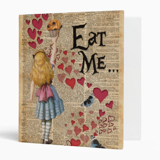 Alice in the Wonderland Eat Me Muffin 3 Ring Binder