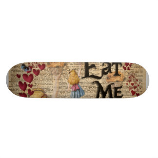 Alice in the Wonderland Eat Me Muffin Skateboard Deck