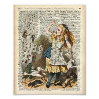 Alice in the wonderland photo print