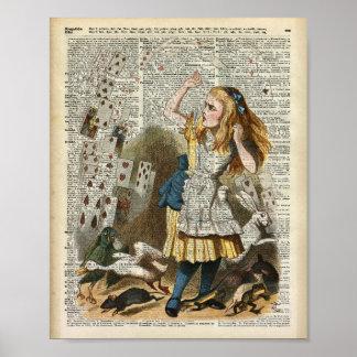 Alice in the wonderland poster