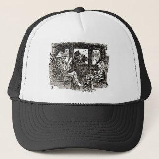 Alice in train trucker hat