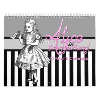 Alice In Wonderland 12 Month Calendar