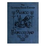 Alice in Wonderland 1905 book cover Postcard