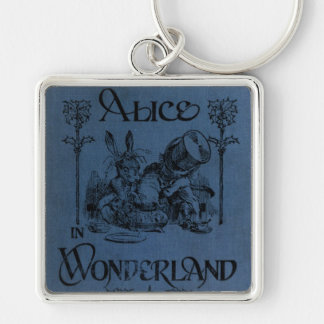 Alice in Wonderland 1905 book cover Silver-Colored Square Keychain