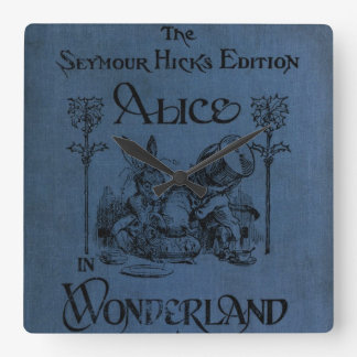 Alice in Wonderland 1905 book cover Square Wall Clock