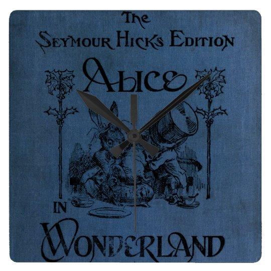 Alice in Wonderland 1905 book cover Square Wall Clock