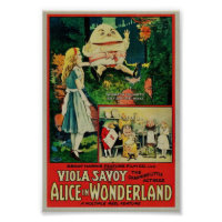 Alice in Wonderland 1915 Rare Poster