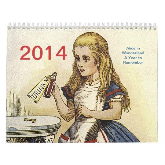 Alice in Wonderland 2014 Calendar