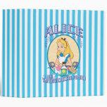 Alice in Wonderland 3 Ring Binder