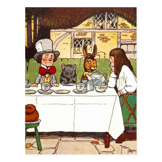 Alice in Wonderland: A Mad Tea Party Postcard